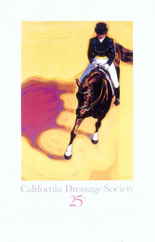 CALIFORNIA DRESSAGE SOCIETY 20TH ANNIVERSARY POSTER