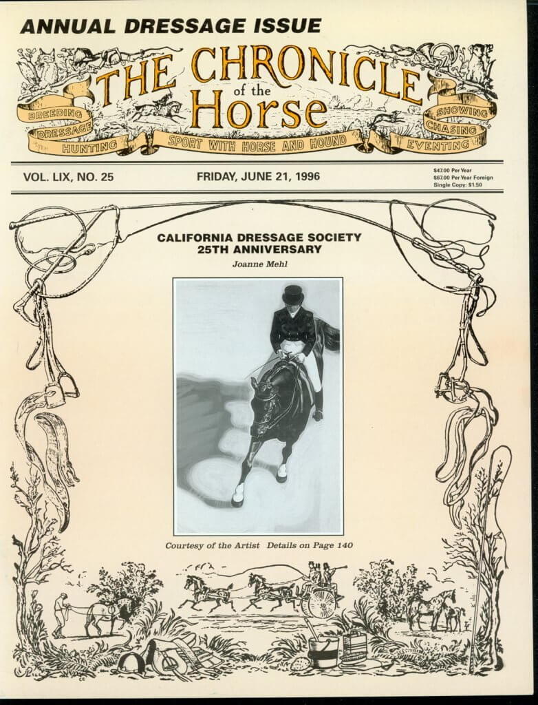 CHRONICLE OF THE HORSE COVER, JUNE 21, 1996