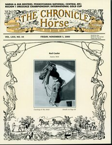 CHRONICLE OF THE HORSE COVER, NOVEMBER 3, 2000