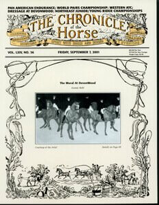 CHRONICLE OF THE HORSE COVER, SEPTEMBER 7, 2001
