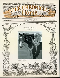 CHRONICLE OF THE HORSE COVER, MARCH 9, 2001