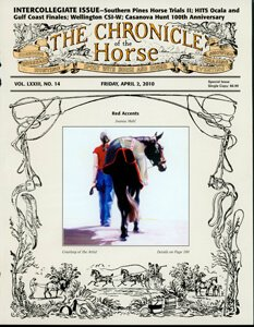CHRONICLE OF THE HORSE COVER, APRIL 2, 2010