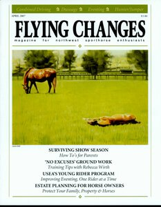 FLYING CHANGES COVER, APRIL 2007
