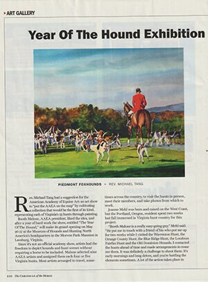 CHRONICLE OF THE HORSE ARTICLE, MAY 21, 2018